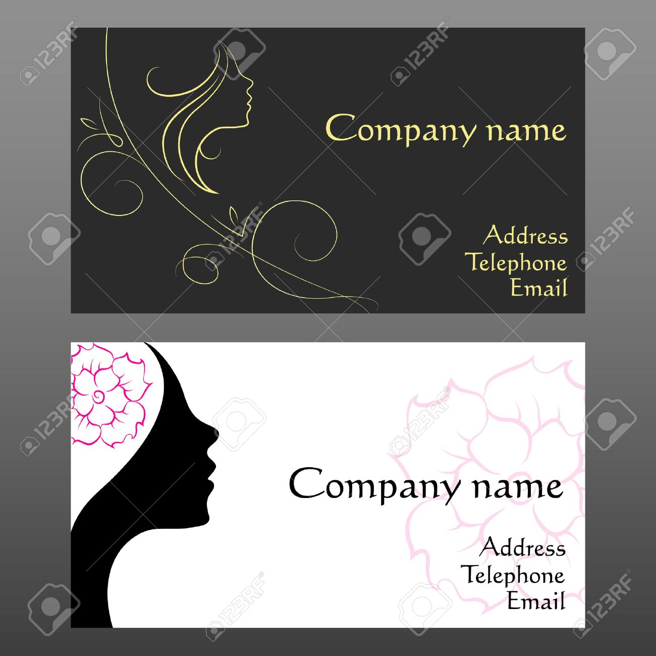 Business card for hair and beauty salon royalty free cliparts business card for hair and beauty salon stock vector 24183477 reheart Images