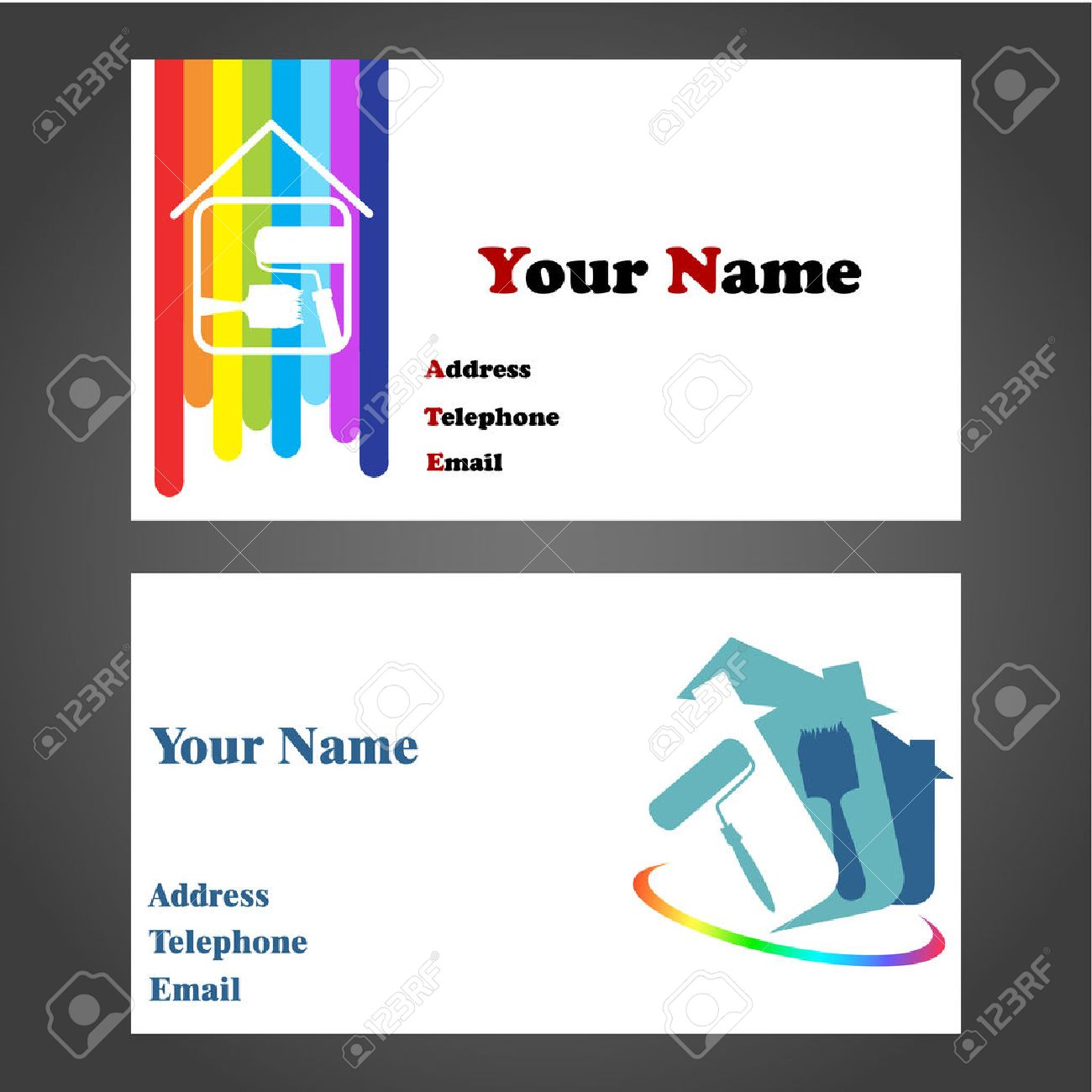 Business Card Designs For Painters And Decorators Royalty Free ...