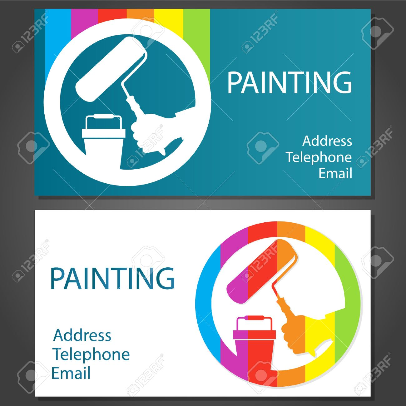Design Business Cards For Painting Business, Vector Royalty Free ...