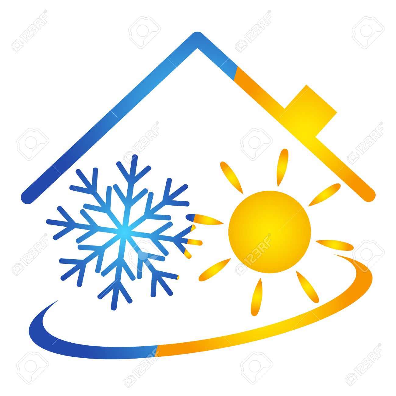Air conditioner vector design, service - 27712980