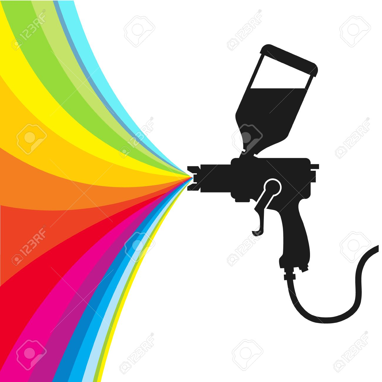 silhouette gun spray paint color vector royalty free cliparts rh 123rf com spray paint can clipart paint spray gun free clipart