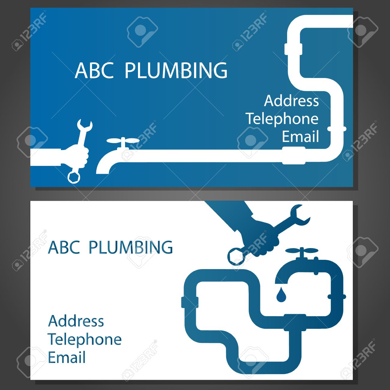 Business Card To Repair Plumbing, Vector Royalty Free Cliparts ...