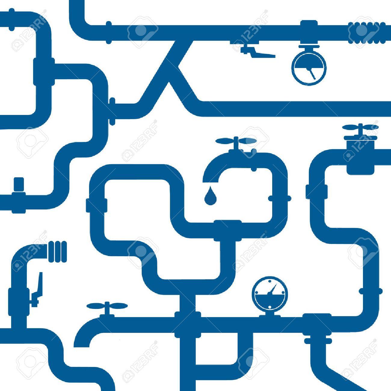 background of plumbing and taps, repair - 28524283