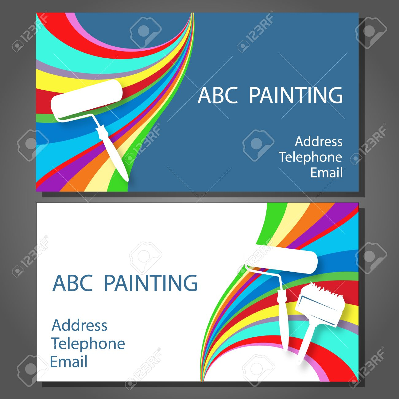 Business card for a painting business vector royalty free cliparts business card for a painting business vector stock vector 33443521 colourmoves