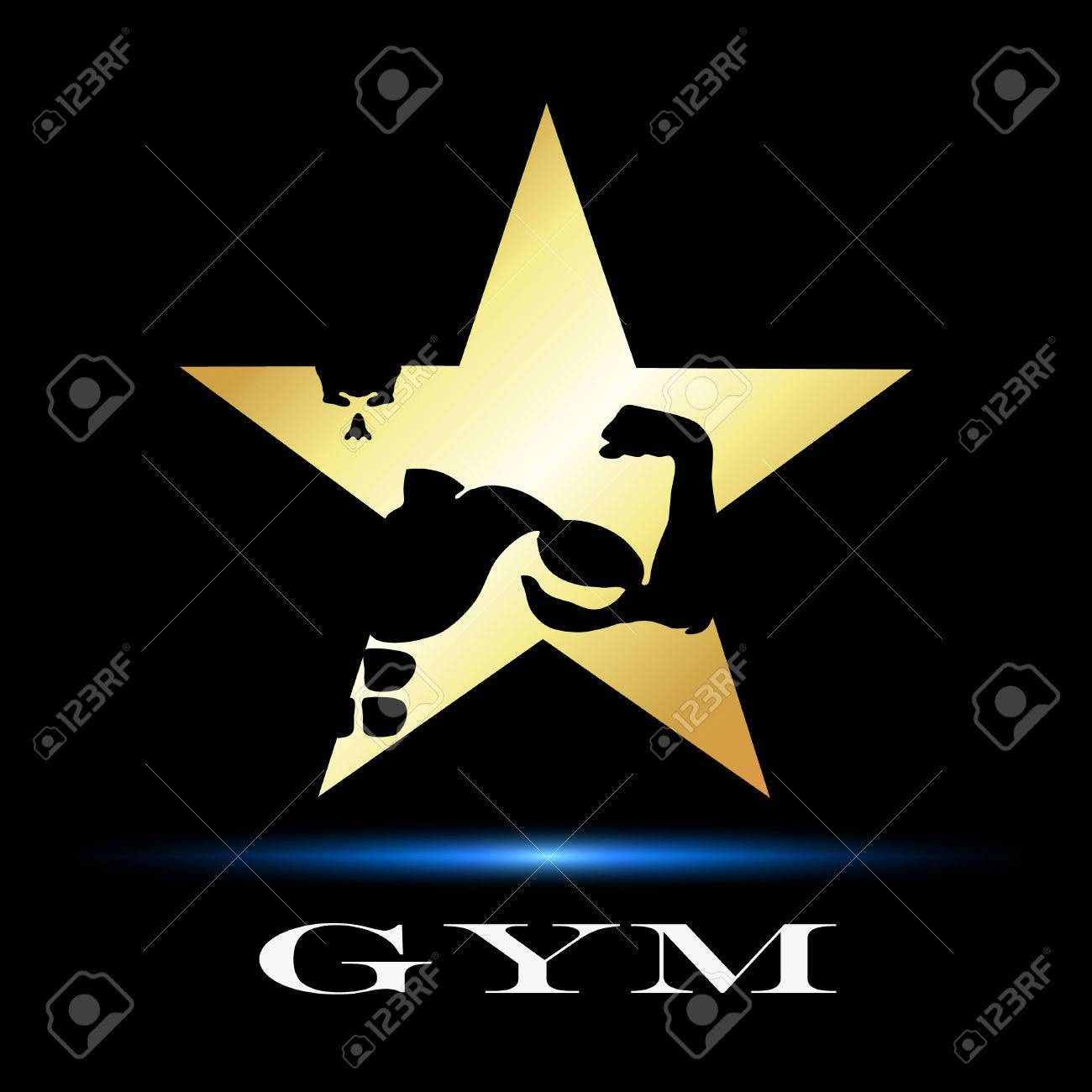 Design Symbol For Gym And Fitness Vector Royalty Free Cliparts