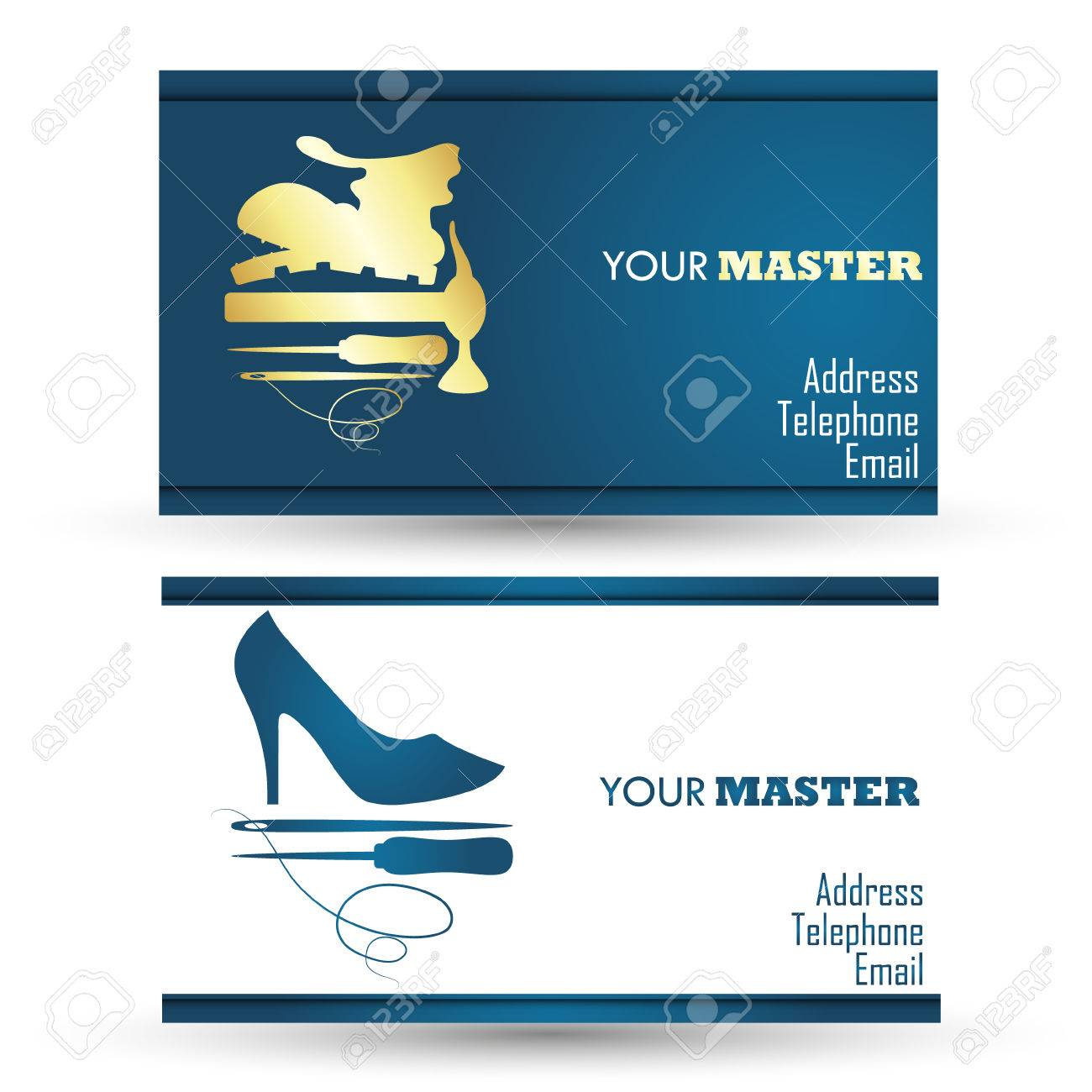 Business card for shoe repair business vector royalty free cliparts business card for shoe repair business vector stock vector 39279968 colourmoves