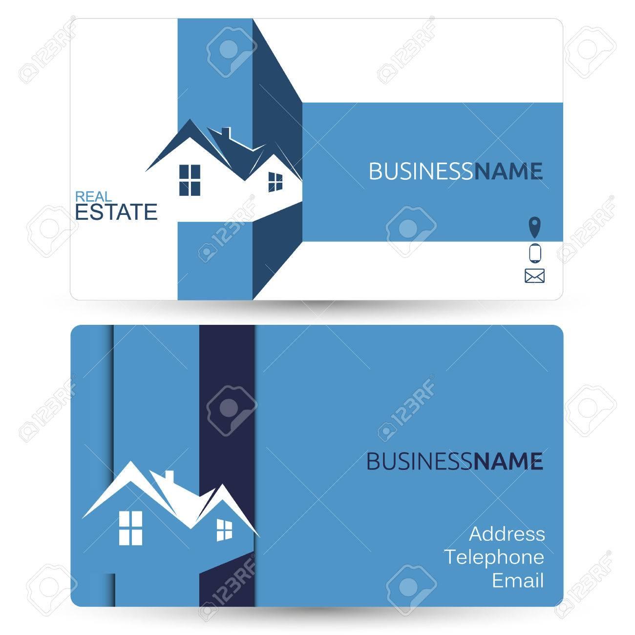Business card for real estate sales mock vector royalty free business card for real estate sales mock vector stock vector 48804058 reheart Choice Image