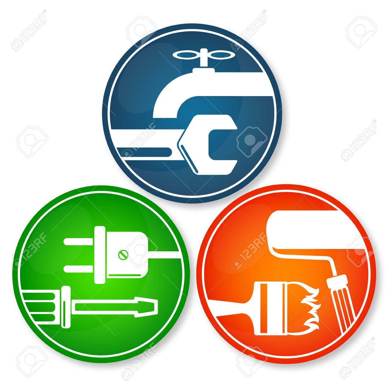 Set of symbols for home renovation repair tool royalty free set of symbols for home renovation repair tool stock vector 49597483 buycottarizona