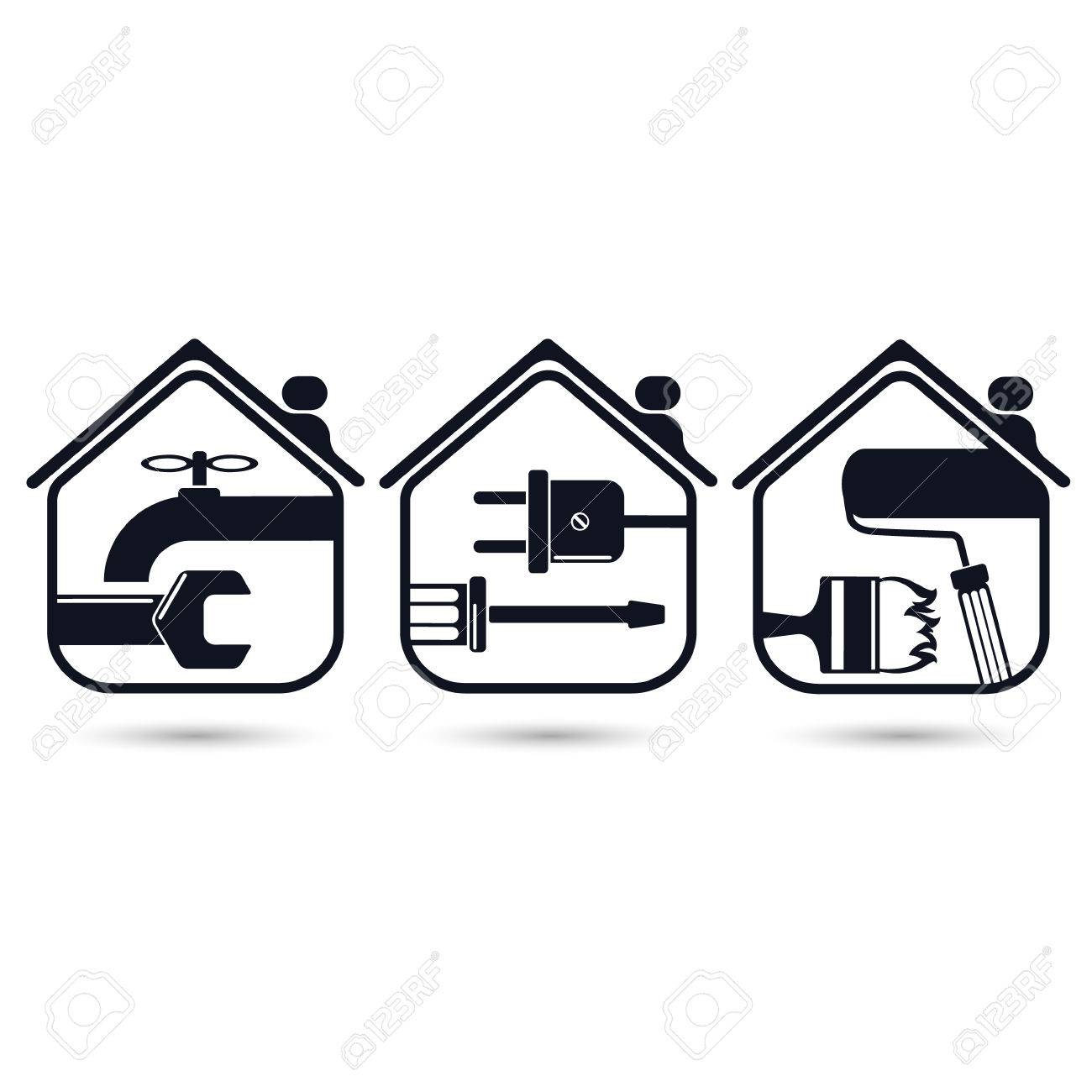Symbols for home renovation repair tools royalty free cliparts symbols for home renovation repair tools stock vector 52404922 buycottarizona Image collections