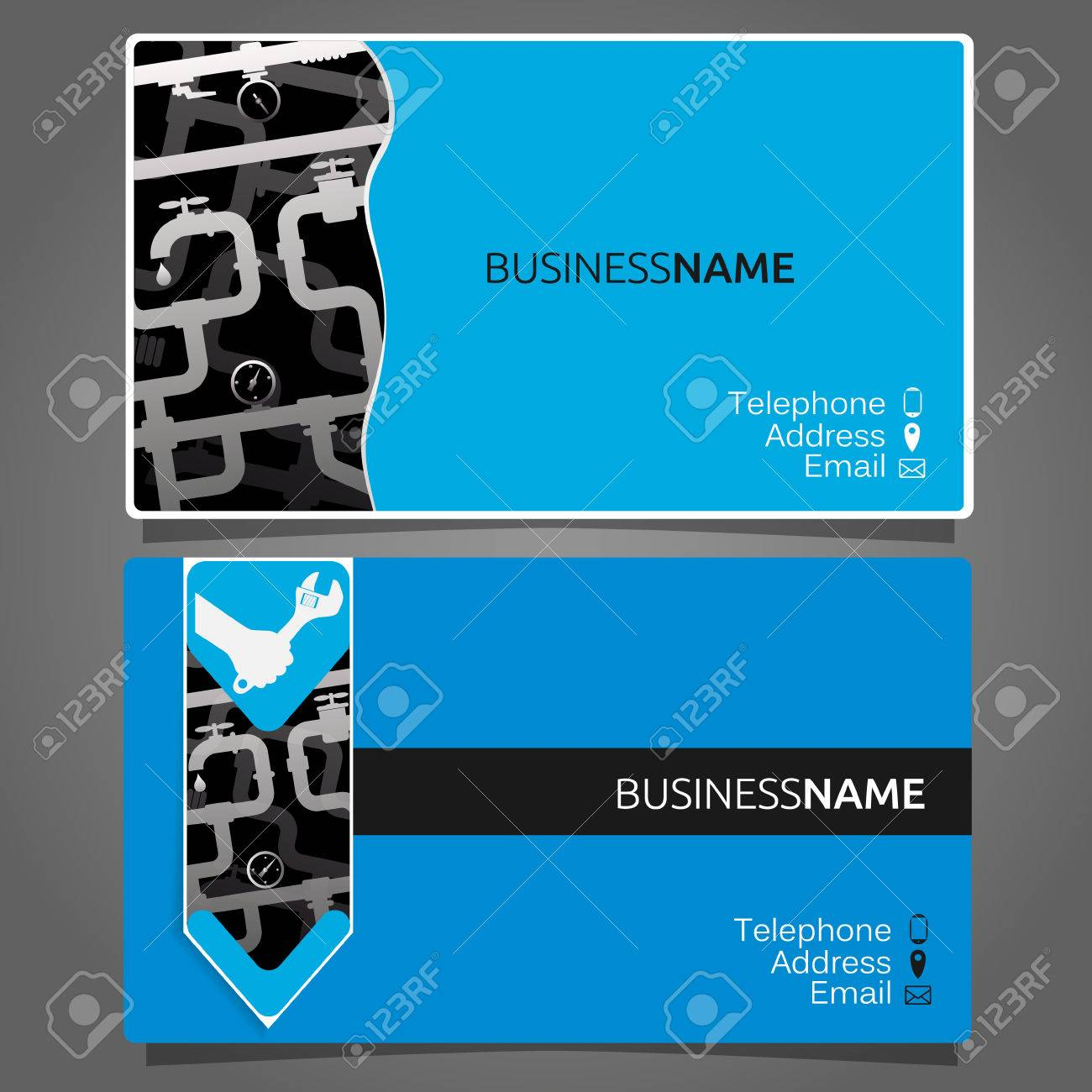 Business card for repair of plumbing and sanitary ware royalty free business card for repair of plumbing and sanitary ware stock vector 64053103 colourmoves