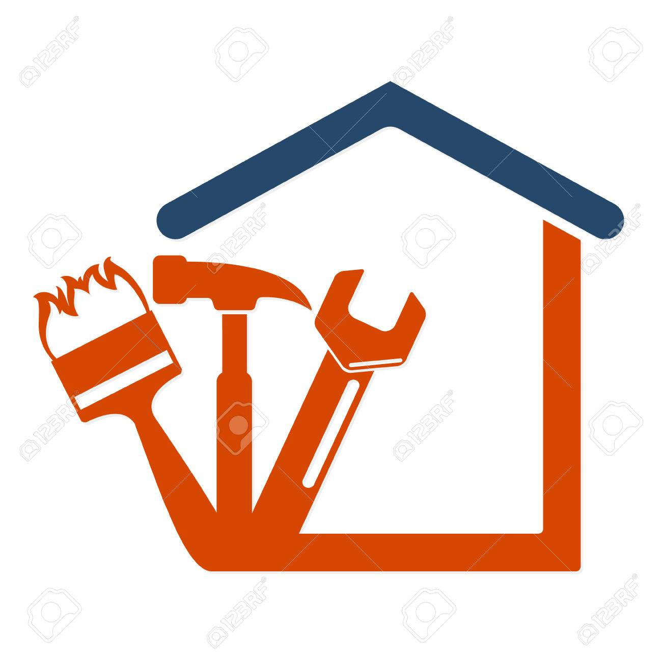 Home repair with the tool symbol vector Business - 68961822