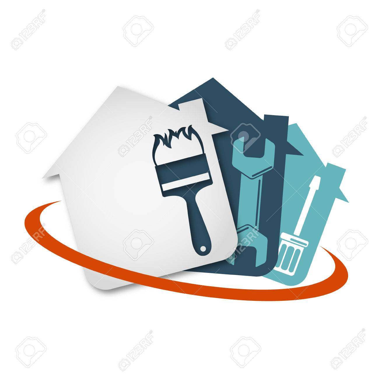 Repair of home with a tool vector - 68962427