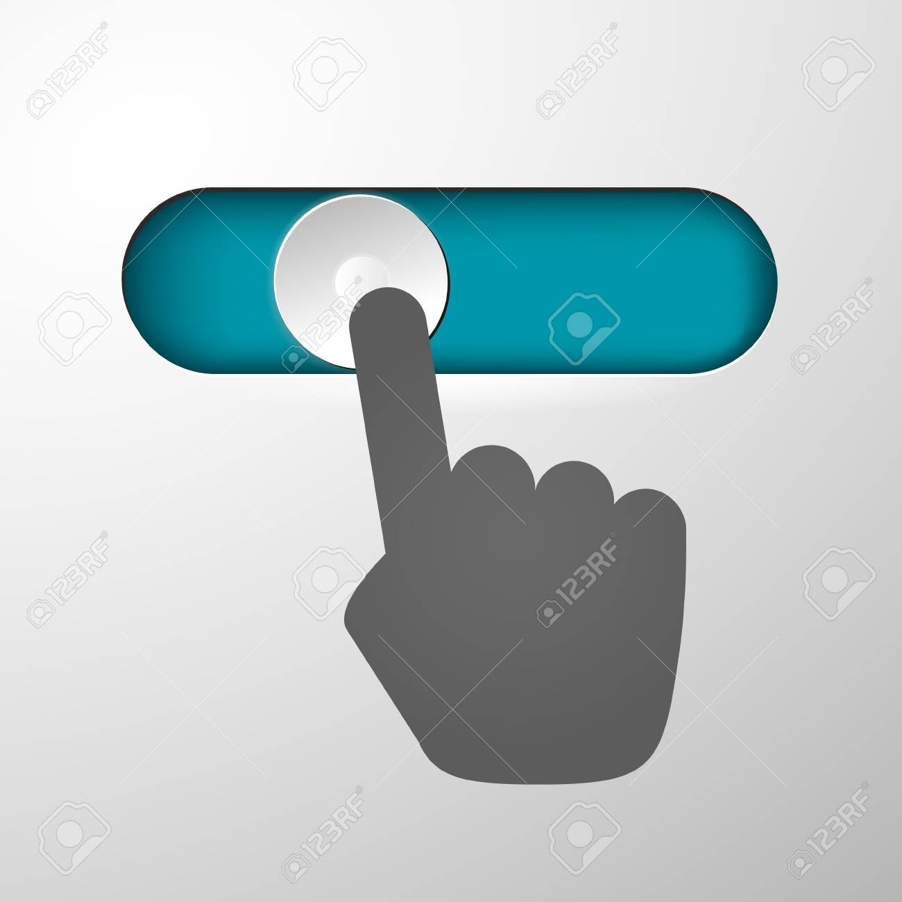 The hand moves the power button off and on royalty free cliparts the hand moves the power button off and on stock vector 70764982 biocorpaavc Choice Image