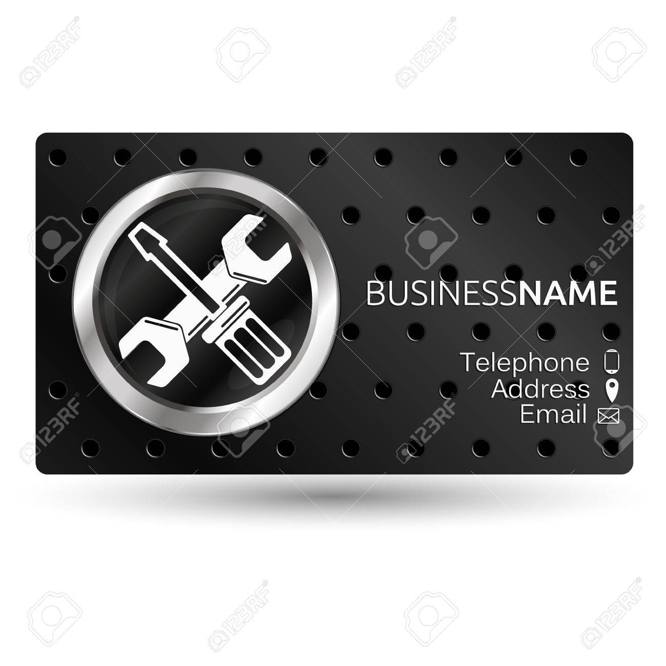 Business Card For Repair Screwdriver And Wrench Royalty Free