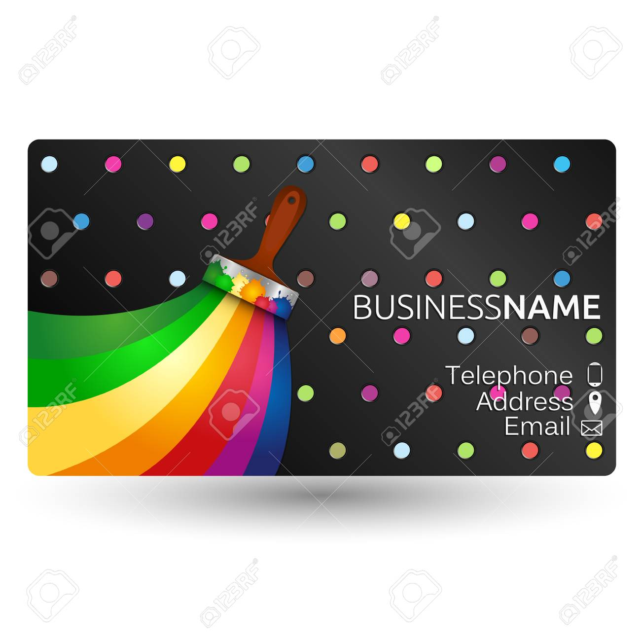 painting business card concept vector stock vector 73049206 - Painting Business Cards