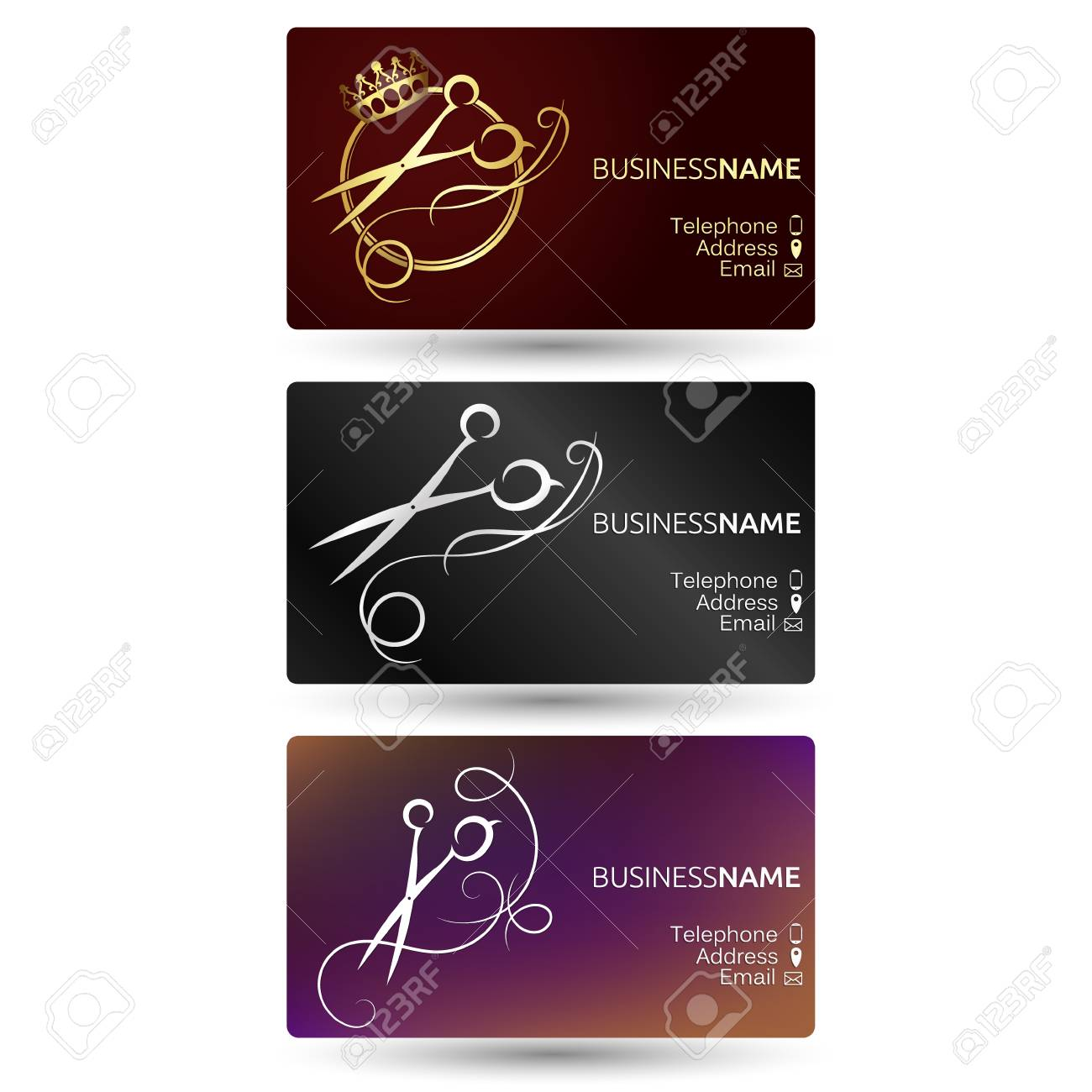 Business card for hairdresser and beauty salon set for business business card for hairdresser and beauty salon set for business stock vector 73938451 reheart Choice Image