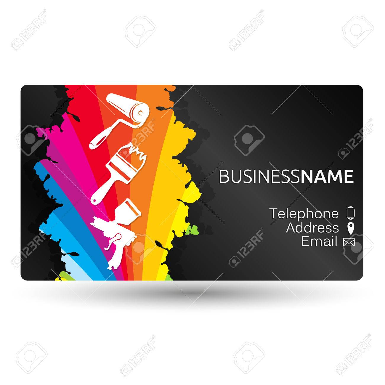 Business card for painting business layout royalty free cliparts business card for painting business layout stock vector 73863958 colourmoves
