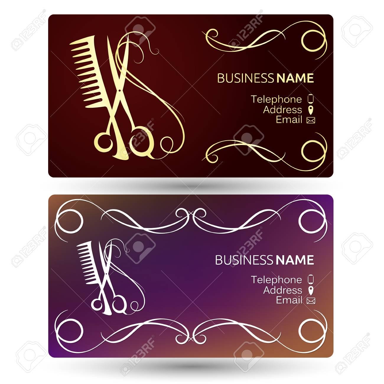 Beauty salon and hairdresser business card template vector royalty beauty salon and hairdresser business card template vector stock vector 73790269 colourmoves