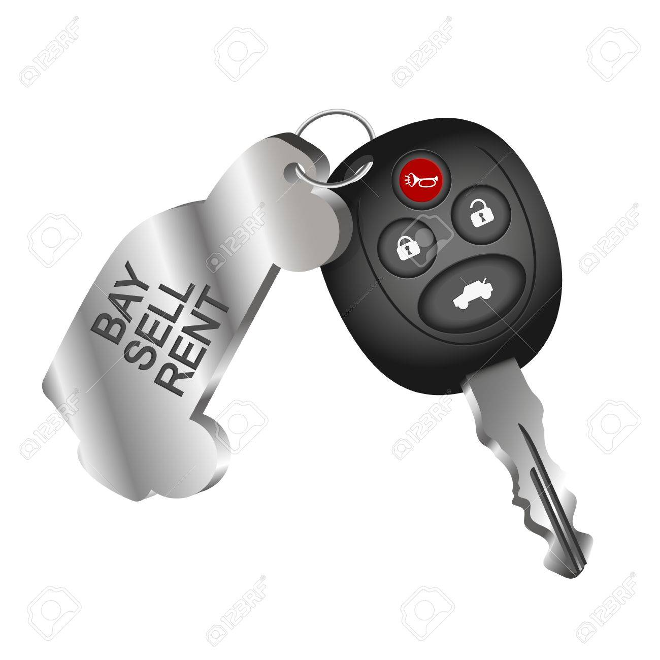 Car Key Symbol For Car Rental Sale And Purchase Of Cars Royalty
