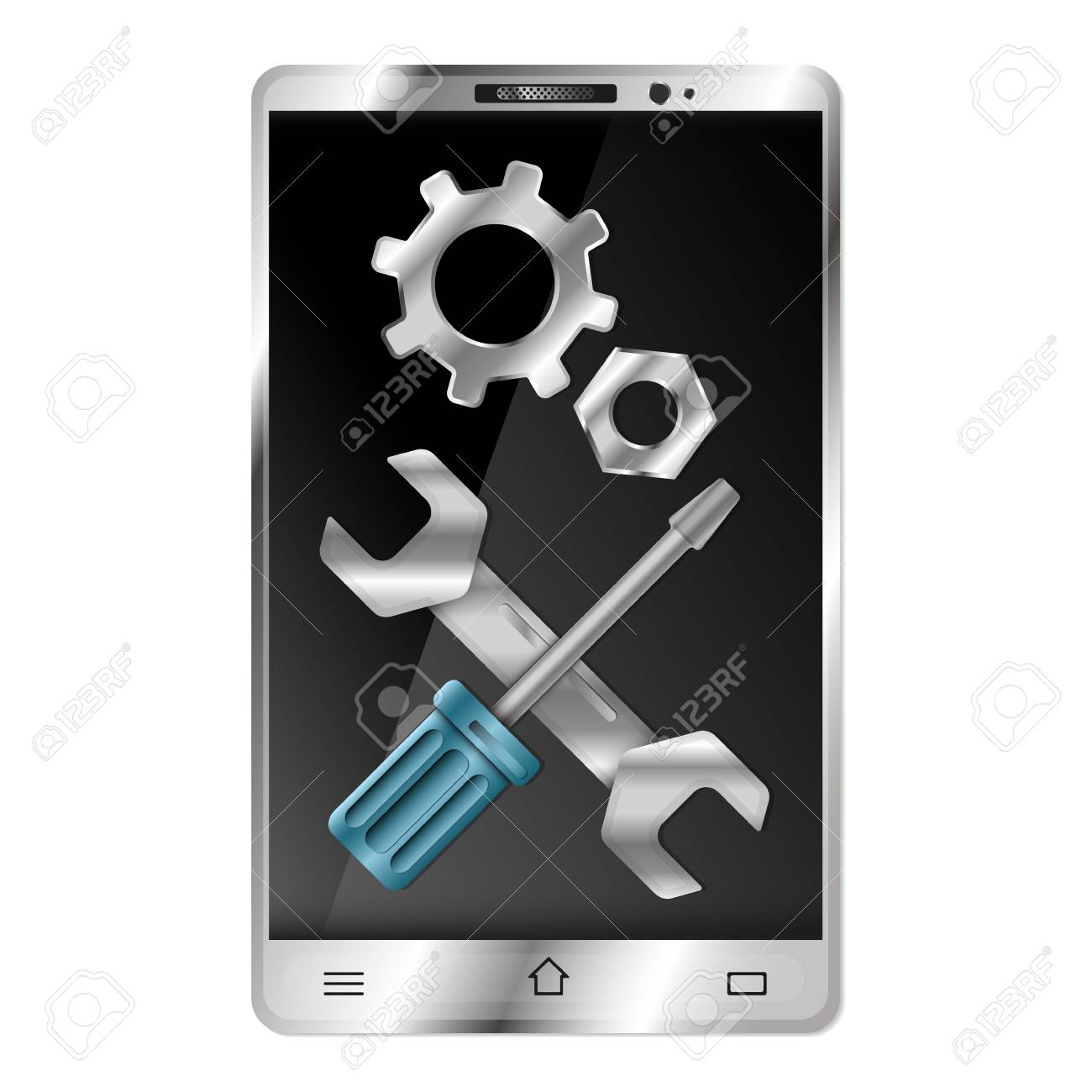 Repair Phones And Gadgets Symbol For Business Royalty Free Cliparts