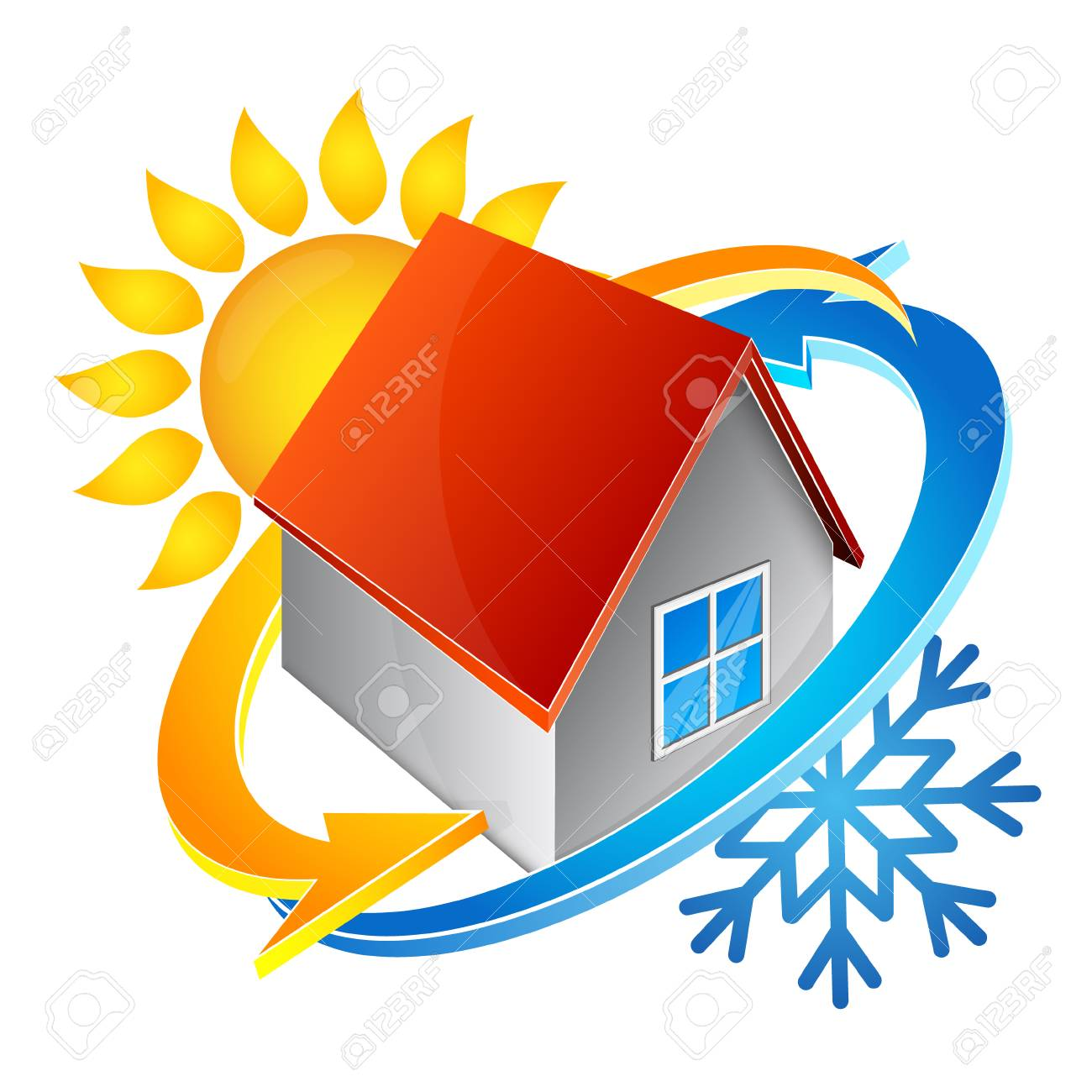 Temperature in the house symbol of air conditioning - 87774653