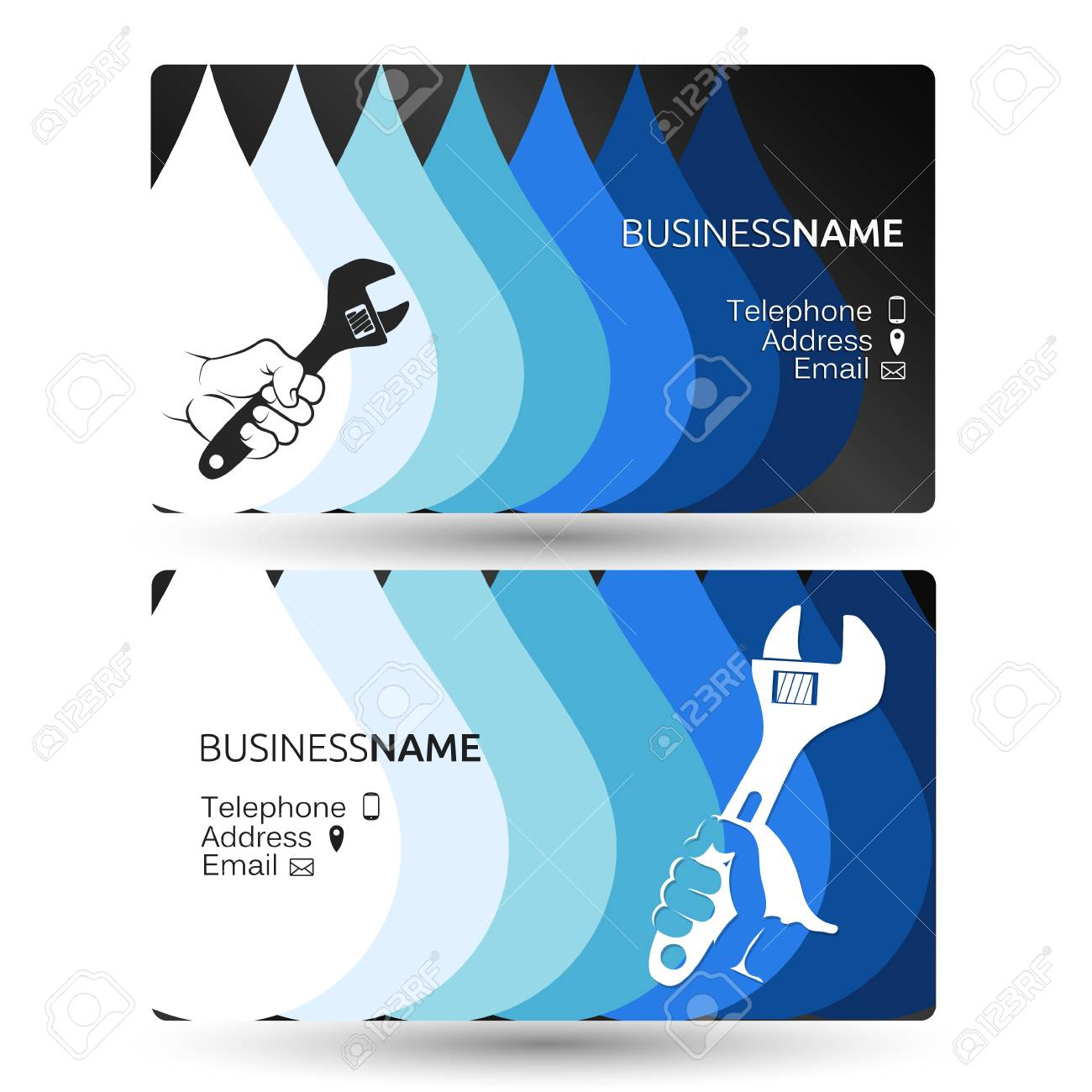 Plumbing Business Card Concept For Repair And Maintenance Royalty