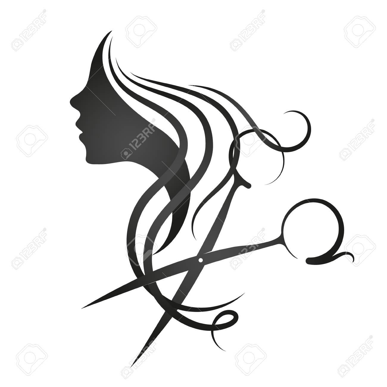 Beauty salon and hairdresser for women symbol - 97450893