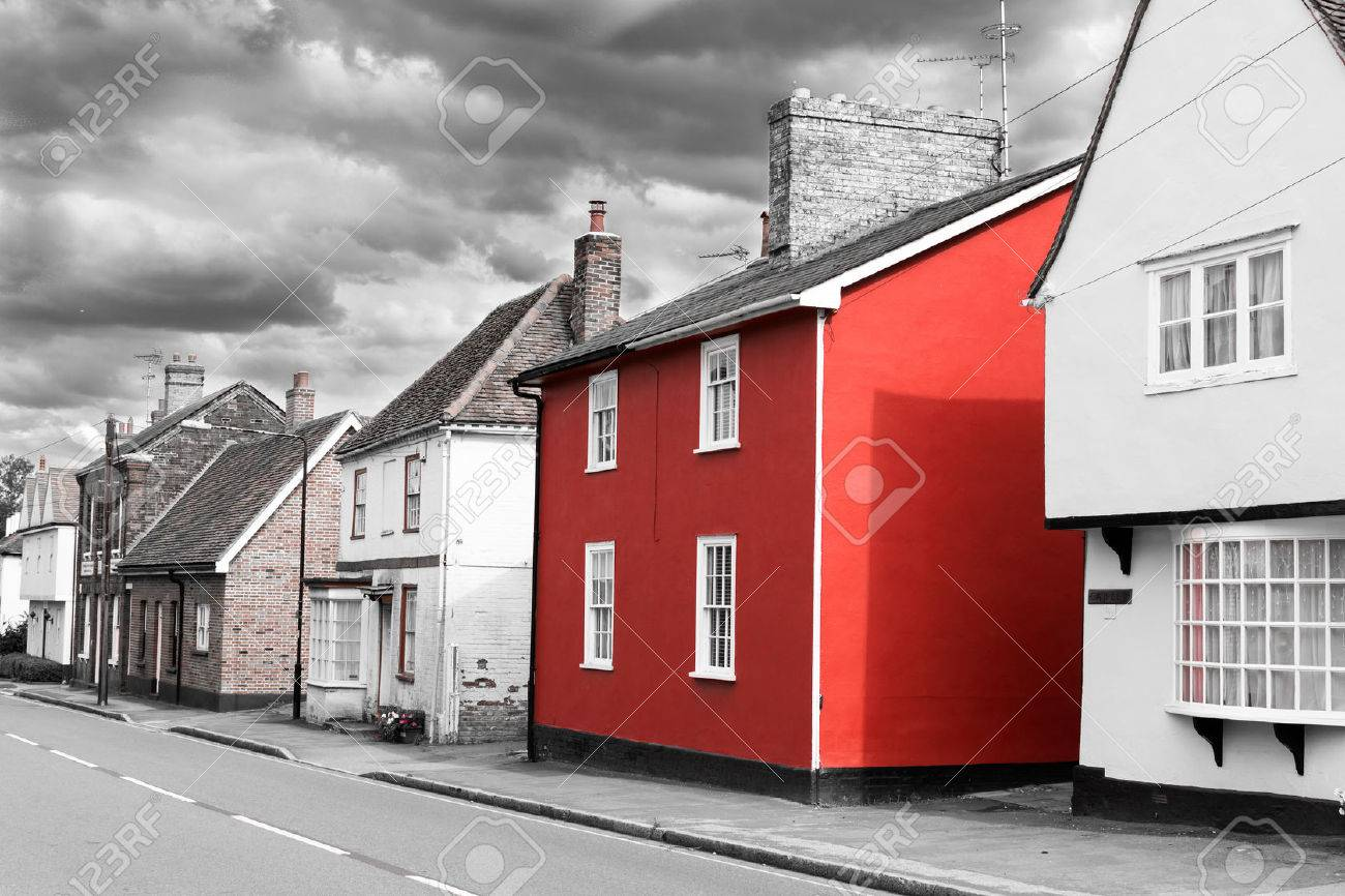 The Red House: 14 Aug   Single Red Painted House