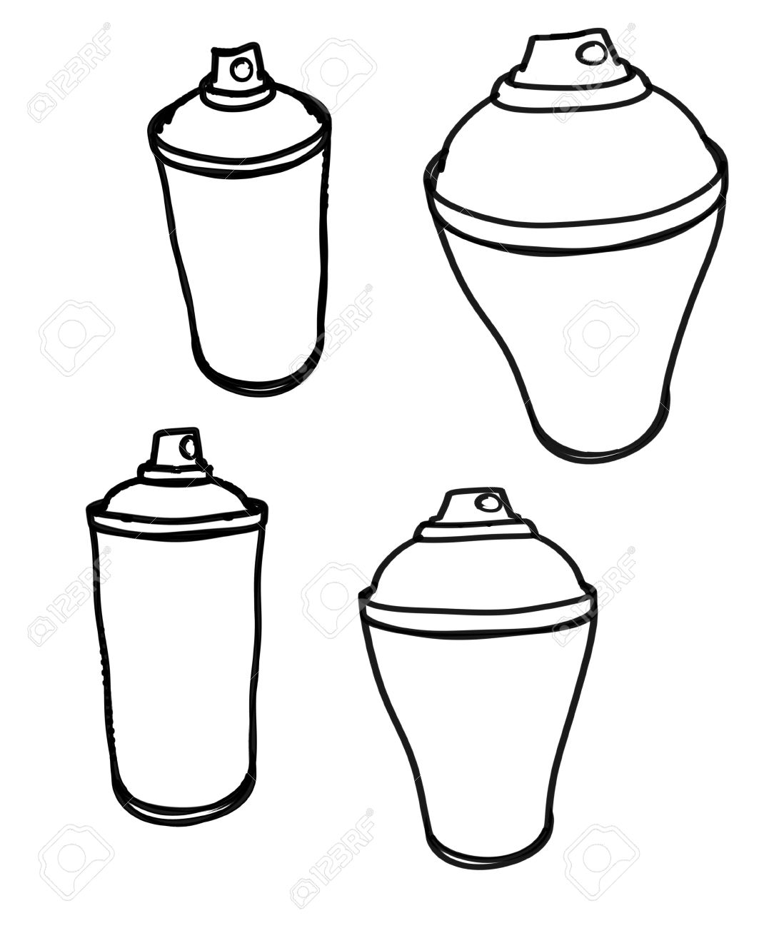 rough marker sketches of spray can graffiti stock photo picture and