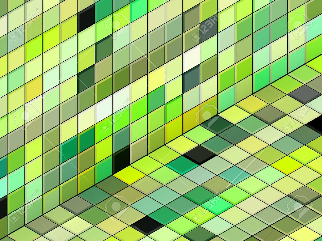 d hacer verde mixta pavimento suelo de baldosas de la pared foto de archivo
