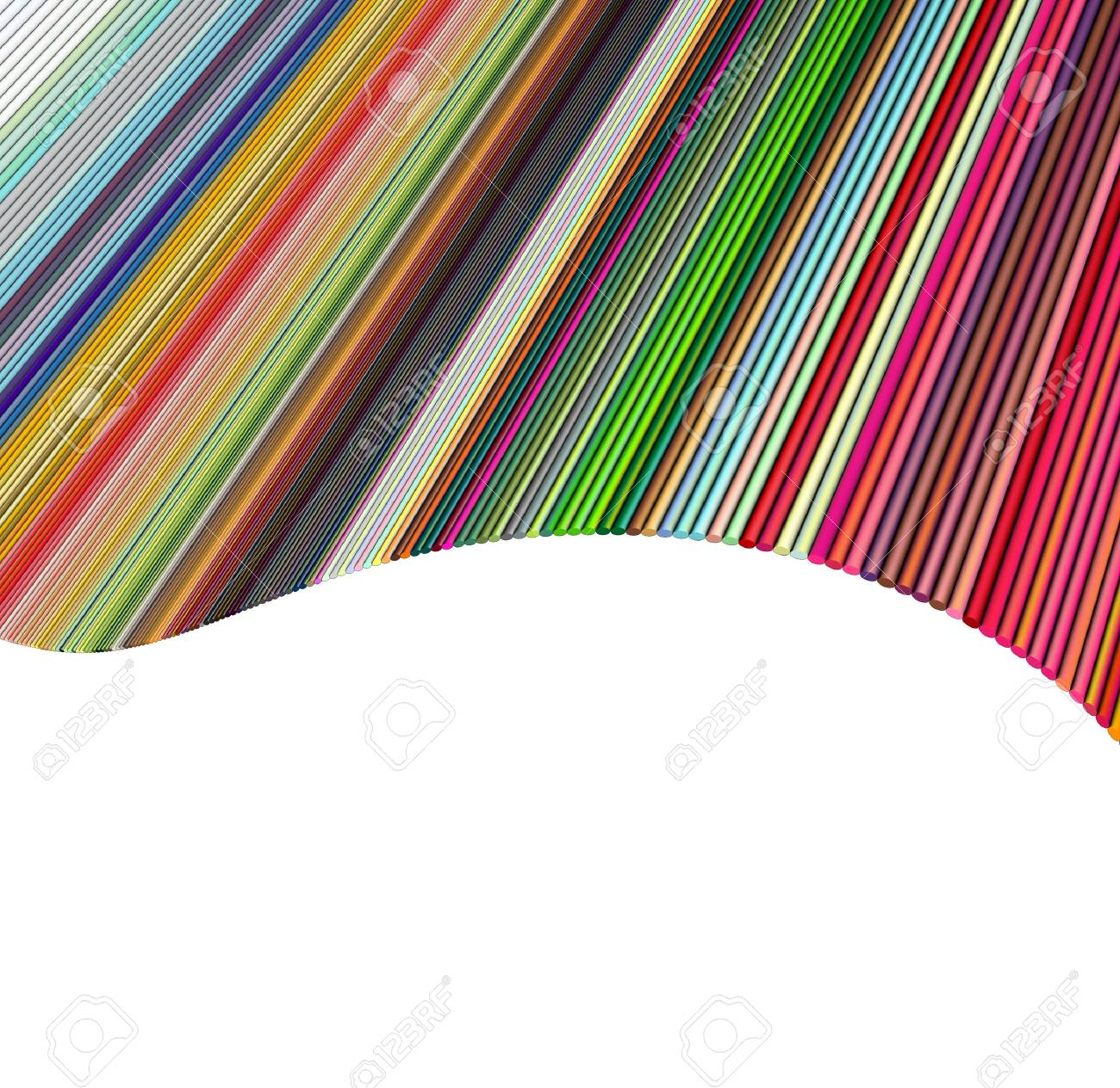 tube abstract wave 3d backdrop in multiple rainbow colors Stock Photo - 13045910