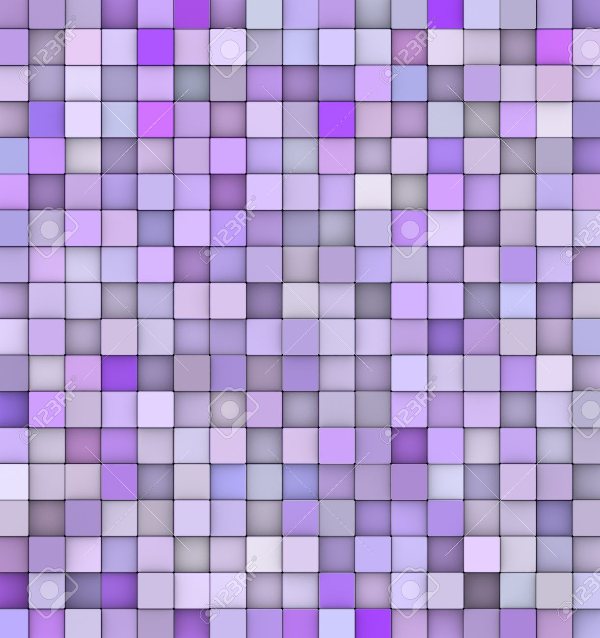 Abstract Backdrop 3d Render Cubes In Different Shades Of Purple ...