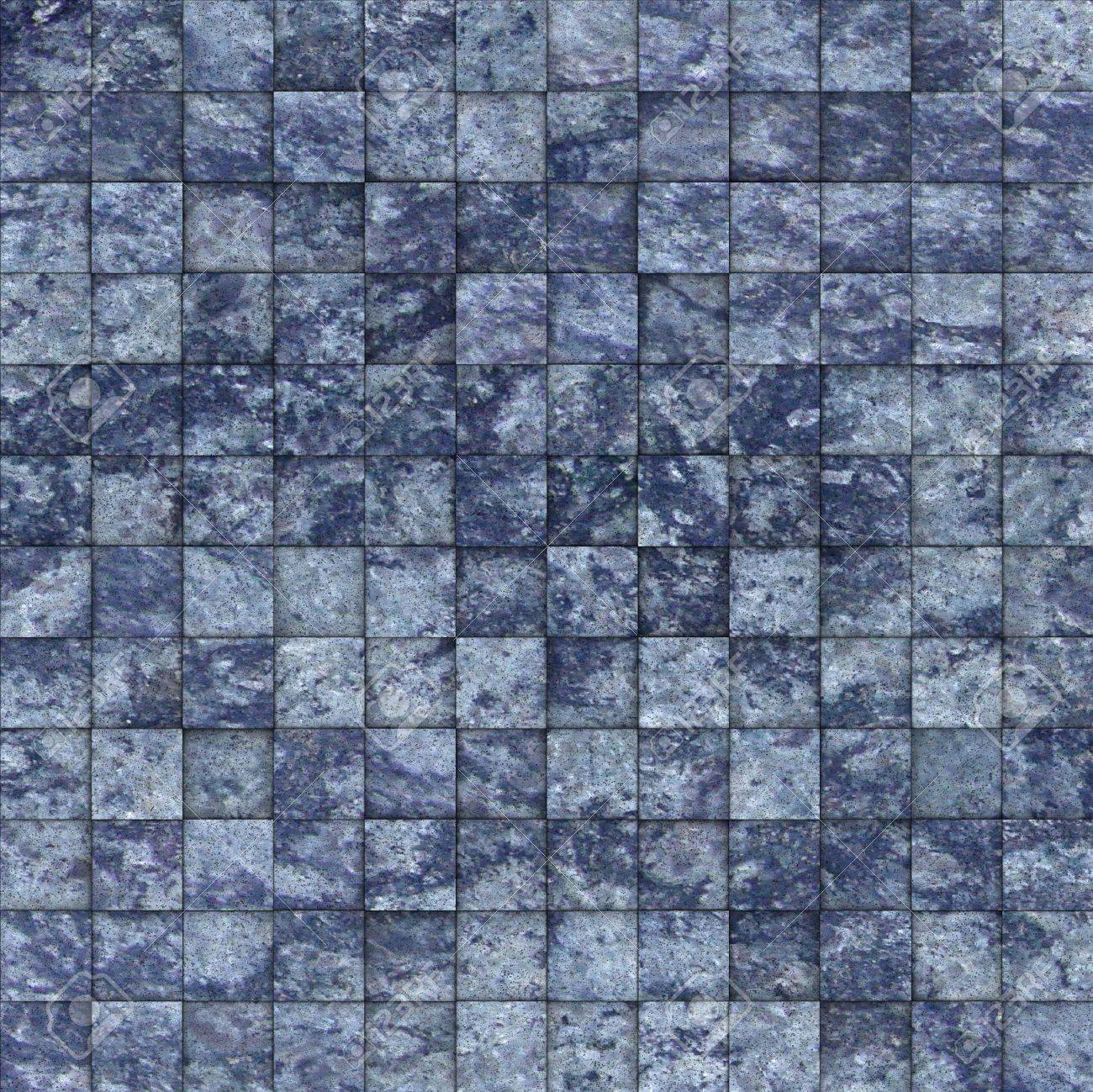 Mosaic Tile Speckled Blue Wall Floor Stock Photo, Picture And ...