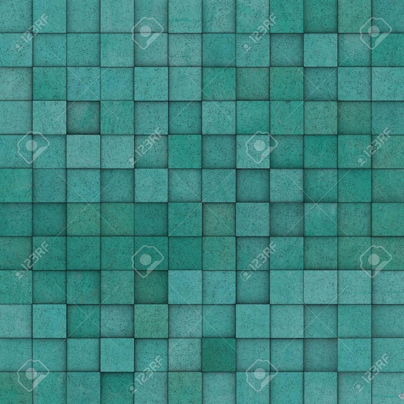 mosaïque carrée carrelage bleu motif de grunge jaune vert banque d