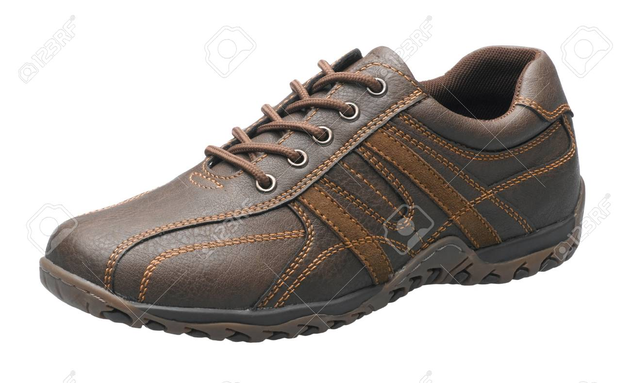 Casual brown leather shoe isolates on white background Stock Photo - 15732951