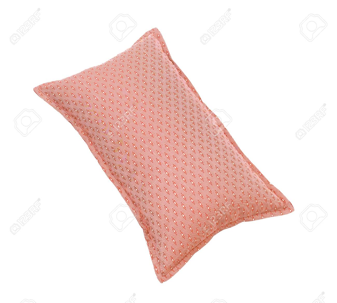 pretty red cushion isolates on white background Stock Photo - 15732921
