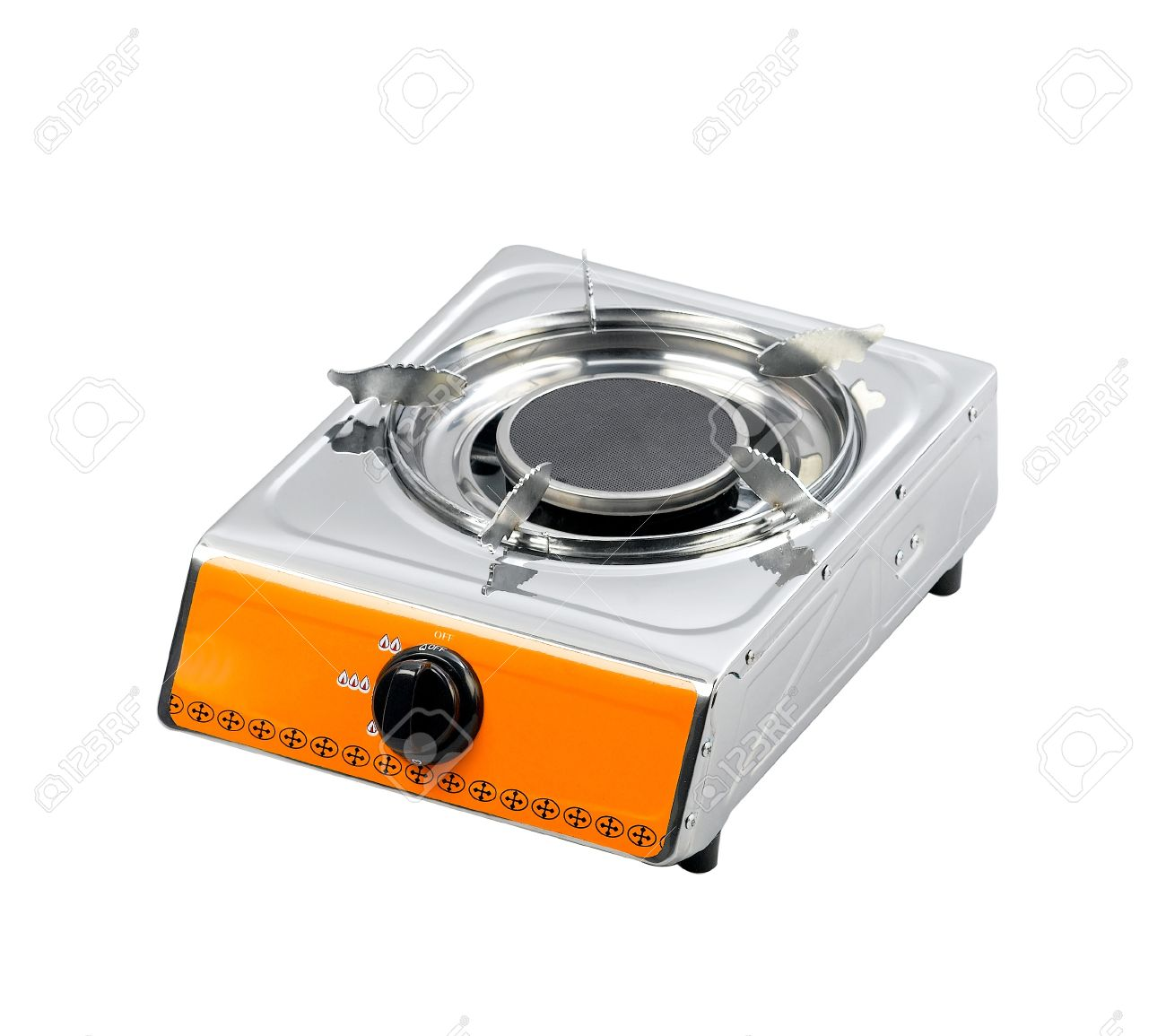 Portable Gas Stove For Small Family Isolated Stock Photo   15755920