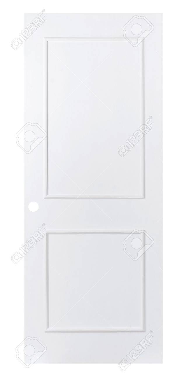 plain white door. plain white wooden door to paint favorite color by yourself stock photo 15821667