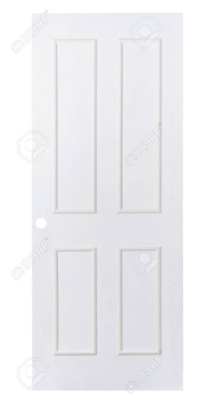 Plain White Wooden Door To Paint Favorite Color By Yourself Stock Photo    15821701