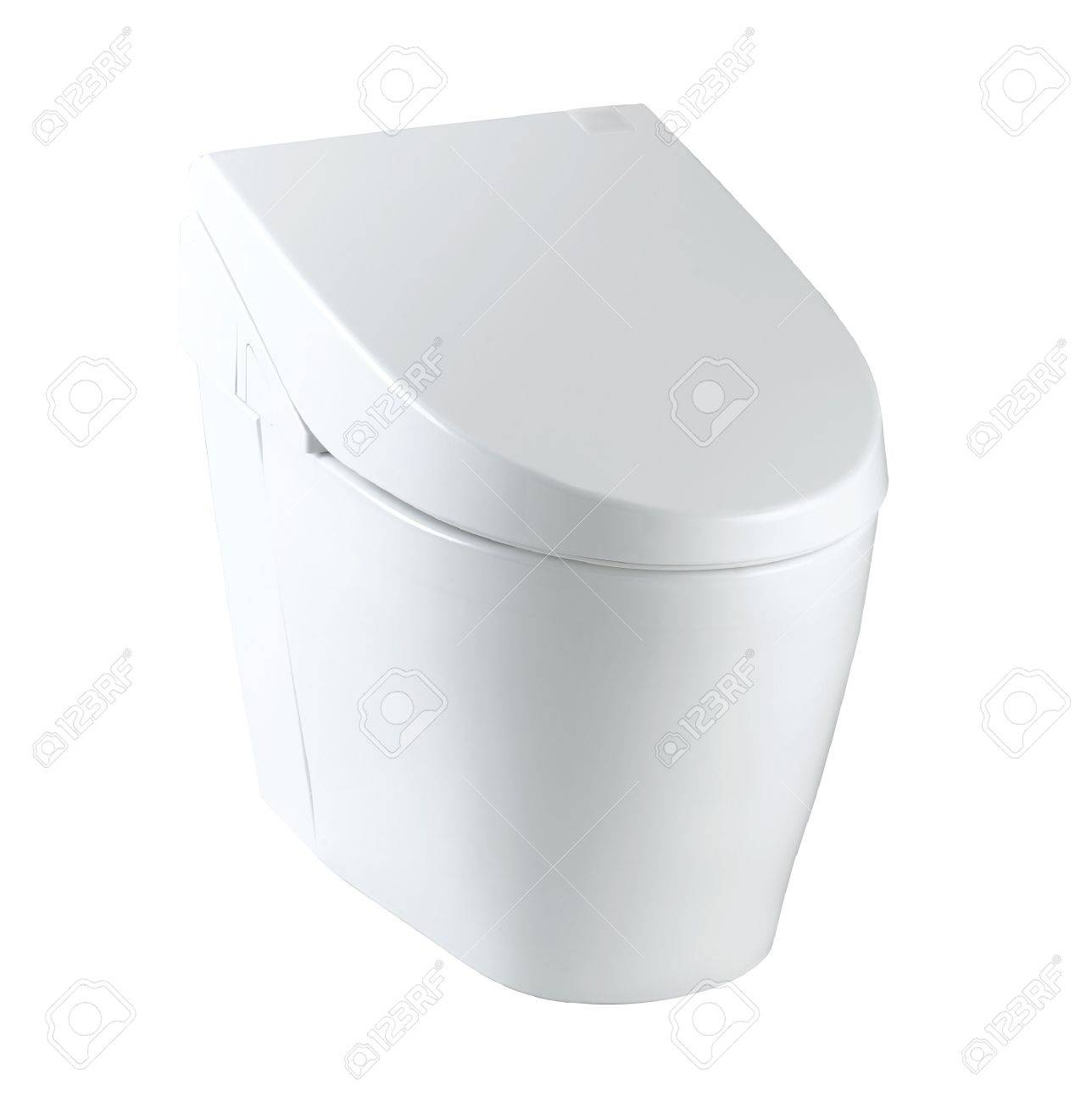 clean and useful toilet bowl wall type great for modern bathroom  - clean and useful toilet bowl wall type great for modern bathroom stockphoto