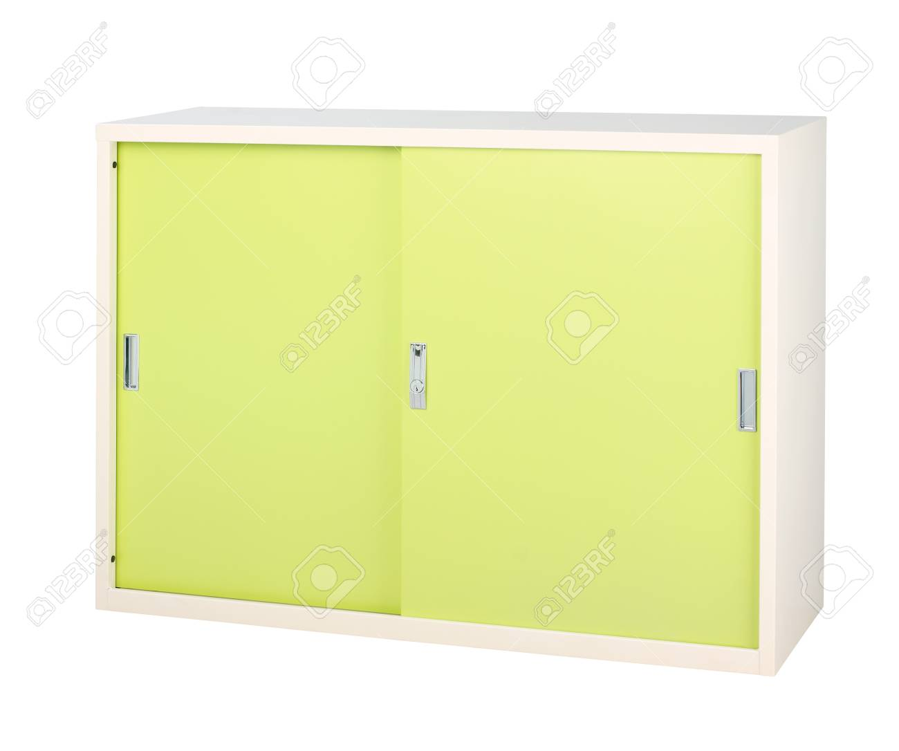 Steel cabinet in bright green great to storage all files Stock Photo - 16653736