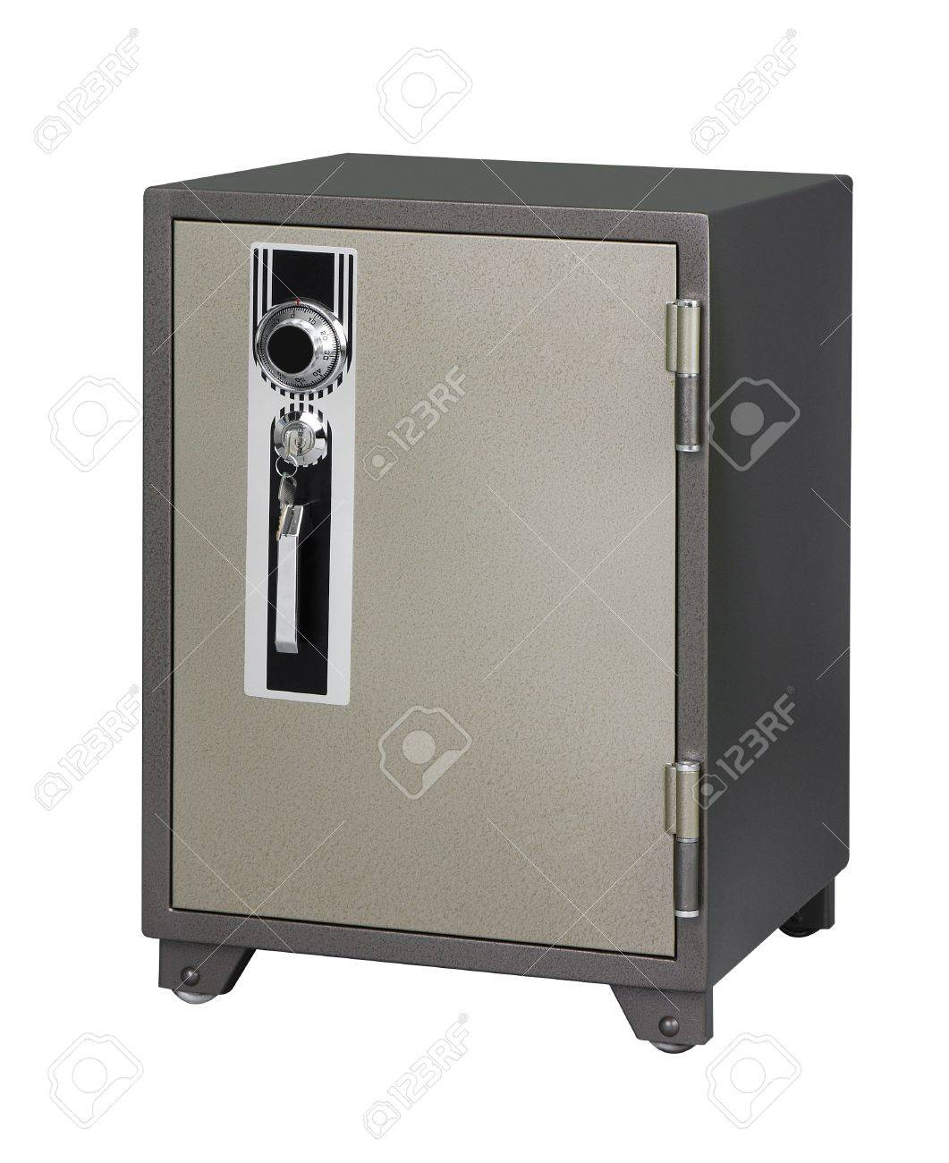 Security safe isloated on white Stock Photo - 16653778