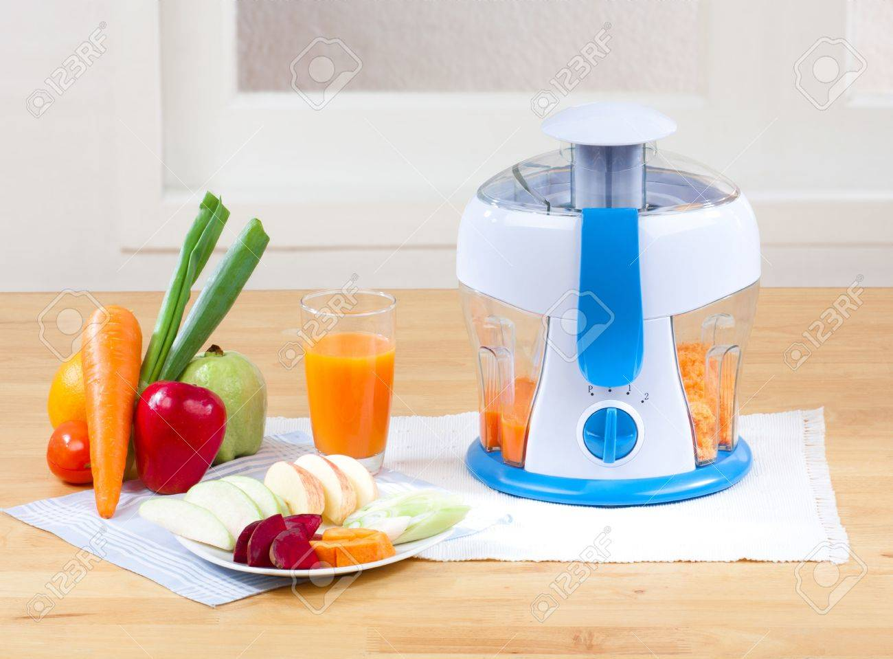 Fruits Juice blender machine easy and healthful at home Stock Photo - 16654088