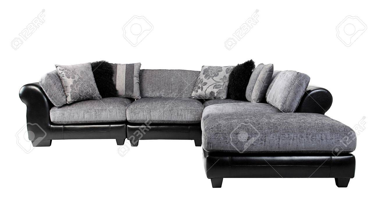 Nice and cozy of the luxury mix leather and fabric sofa bench..