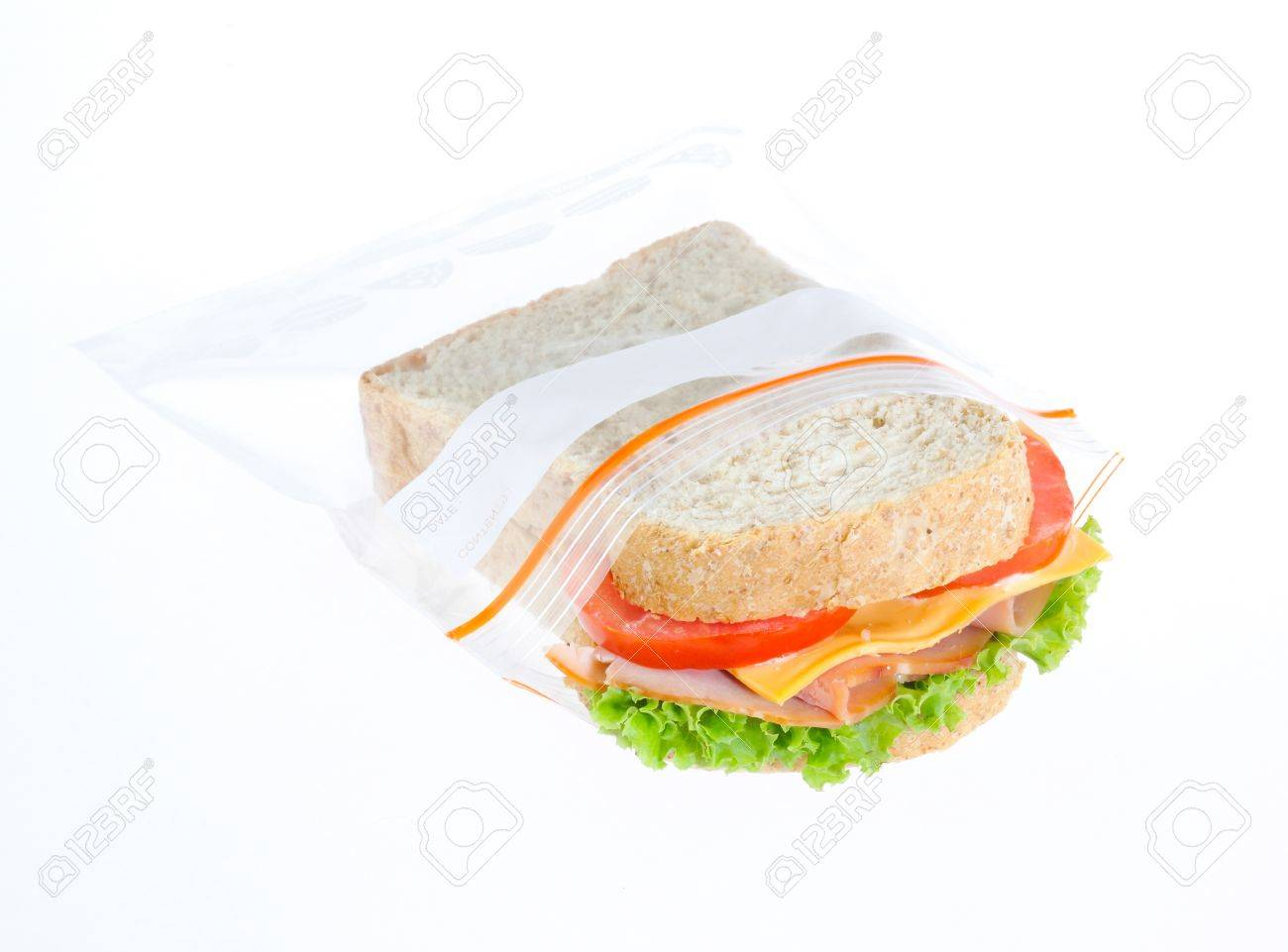 keep your sandwiches always fresh in the zipper bag Stock Photo - 16654325