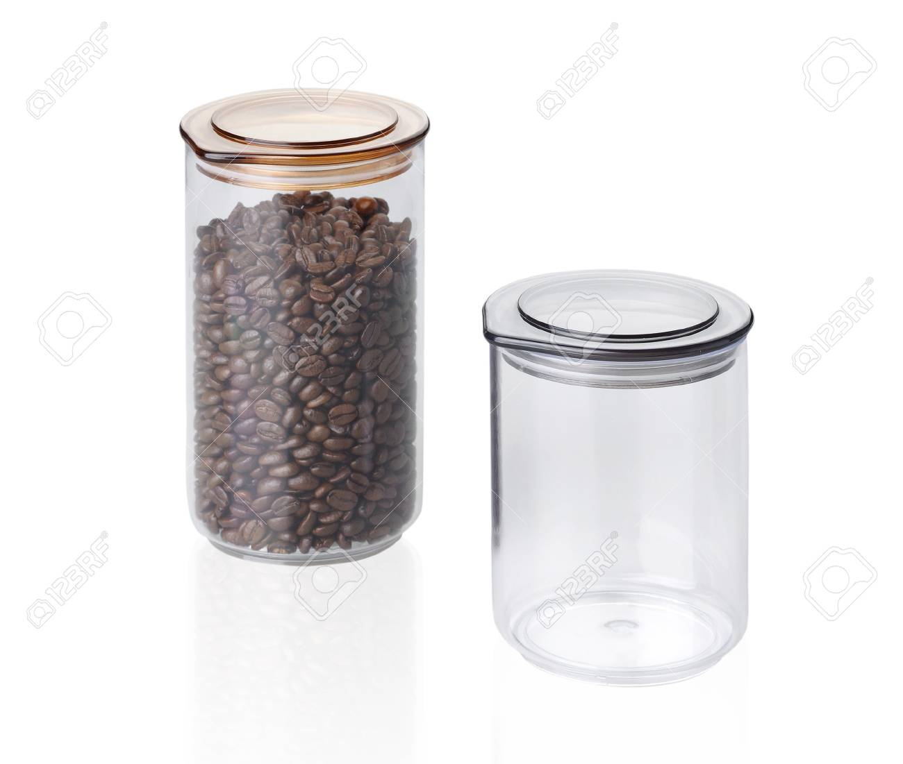 Coffee seeds jug isolated on white background Stock Photo - 18019361