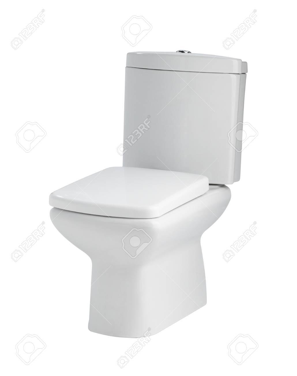 Nice And Beautiful Design Ceramic Toilet Bowl Stock Photo