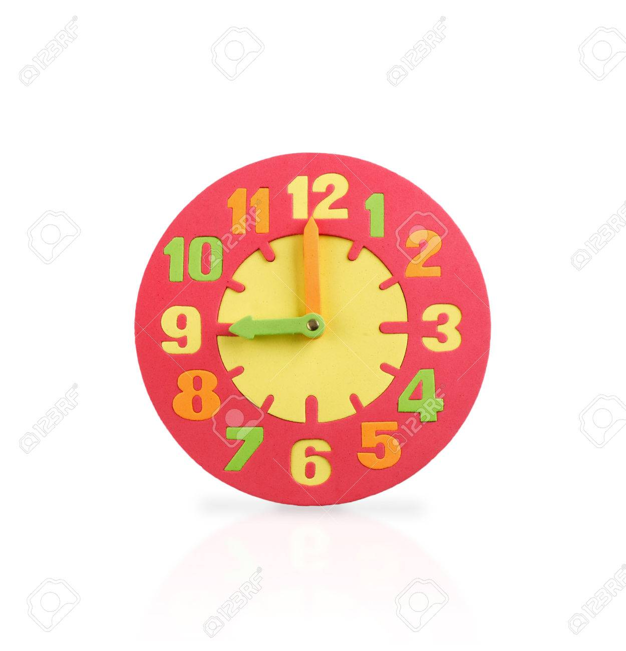Kids wall clock train wall clock wall clock monkey and banana colorful wall clock a toy for kids in top view isolated on white background stock photo amipublicfo Choice Image