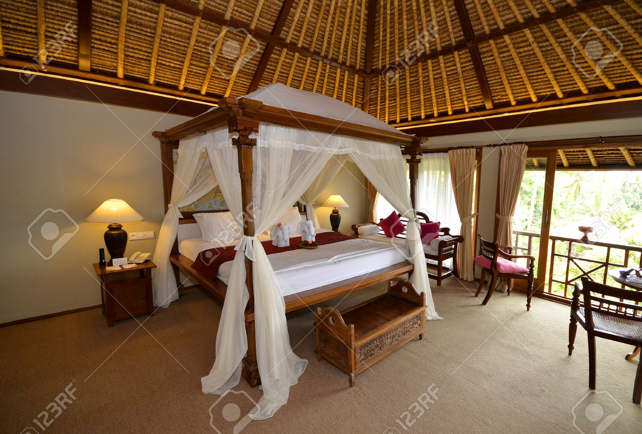 Spa Bedroom Bali Hotel Spa Bedroom With Four Poster Bed And Mosquito Nets