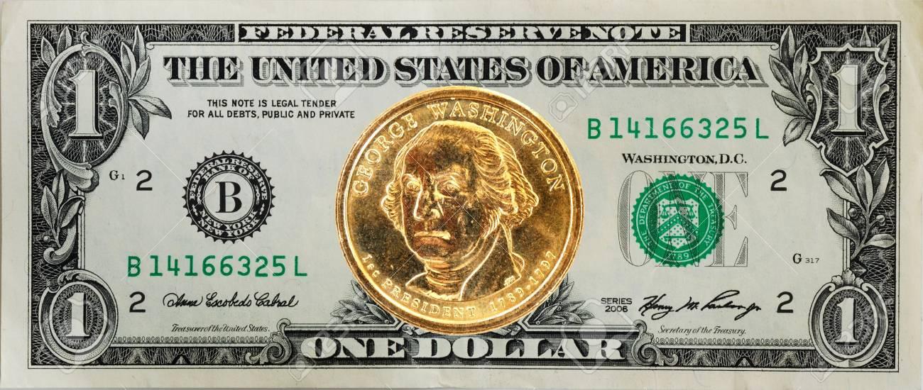 Die Vereinigten Staaten 1 Us Dollar Rechnung Mit Der George